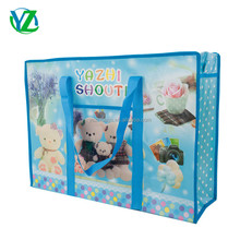 YZH5843-006YIWU YAZHI 2017 new design high quallity pictures printing plastic non woven shopping bag luggage moving bag