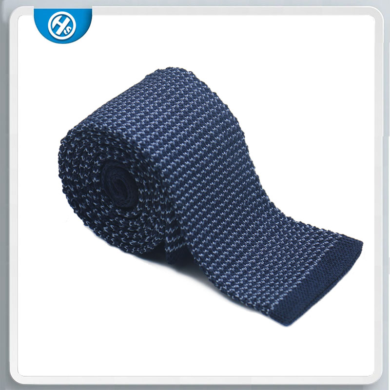 Navy wedding ties knitted polyester necktie suit men