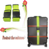 Custom logo adjustable luggage strap with plastic buckle