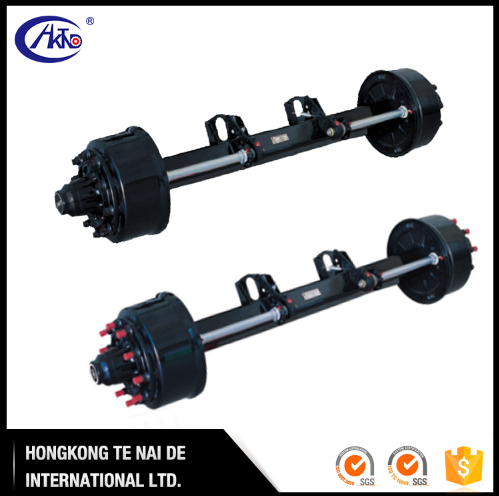 New technology Round 127mm German Drum 2 Wheel Trailer Axle