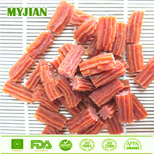 natural sea food dog treats salmon spiral stick 3cm OEM private label dog treats low fat high protein dog snacks