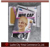 Wholesale 2 in 1packs deluxe wig cap superior quality lace stocking wig cap nylon wig cap