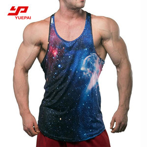 New Fashion Sublimate Muscle Men Custom Printing Sports Fitness Tank Top