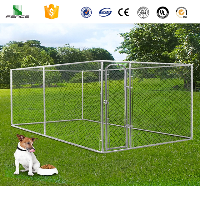 Large Heavy Duty Iron Fence Dog Kennel