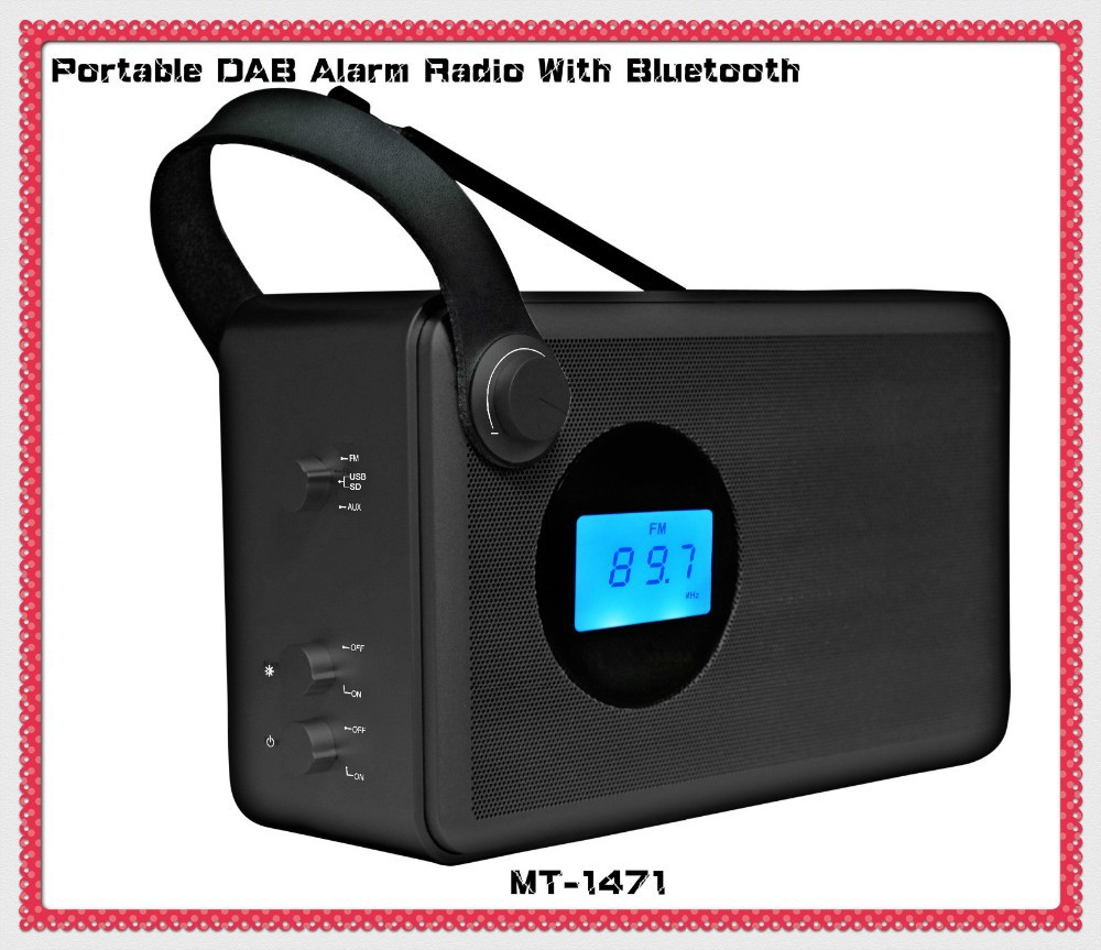 new portable alarm clock dab radio with bluetooth buy dab radio radio dab product on. Black Bedroom Furniture Sets. Home Design Ideas