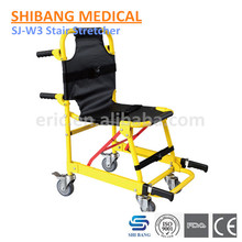 SJ-W3 Hot sale!!!Good Quality!! First-aid Alluminum Alloy Ambulance Foldable Stair Chair Stretchers