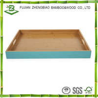 Bamboo Colorful Food Trays Food Serving