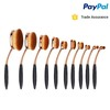 Toothbrush Oval Makeup Brush Professional Foundation Powder Brush Kits