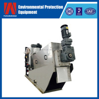 Multi-plate Screw Filter Press / Sludge Dewatering Machine For Palm Oil Wastewater Treatment