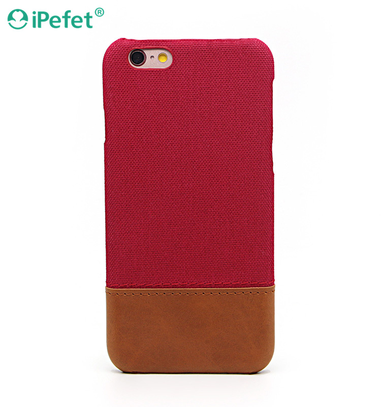 2016 Fashion fabric PC+Leather cell phone case for iPhone 7