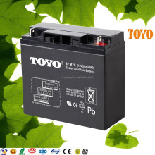 Maintenance free lead acid rechargeable 12V 24AH Storage Batteries for solar system
