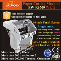 Touch screen Hydraulic Programmed A2 A3 A4 Size 1000 paper sheets cutter