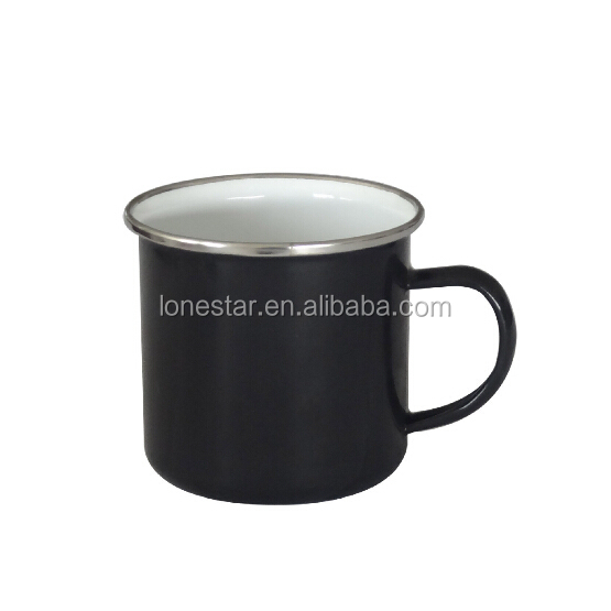 Logo printing promotion enamel coffee mug Camping Enamel Mug for Mountaineering trip
