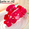 Women Girl Fashion Red Plastic Hair Claw Hair Clip Barrette Accessories