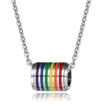 Yiwu jewelry manufacture LGBT gay and lesbian pride necklace
