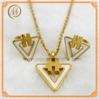 Fine Gold Jewellery White Shell Triangle Shaped Custom Little Girl Jewelry Sets