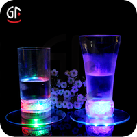 Promotional Party Event Gifts Glow In The Dark Led Bottle Coaster For Wedding Souvenirs
