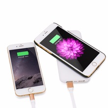 7000 mah double usb port wireless charger power bank
