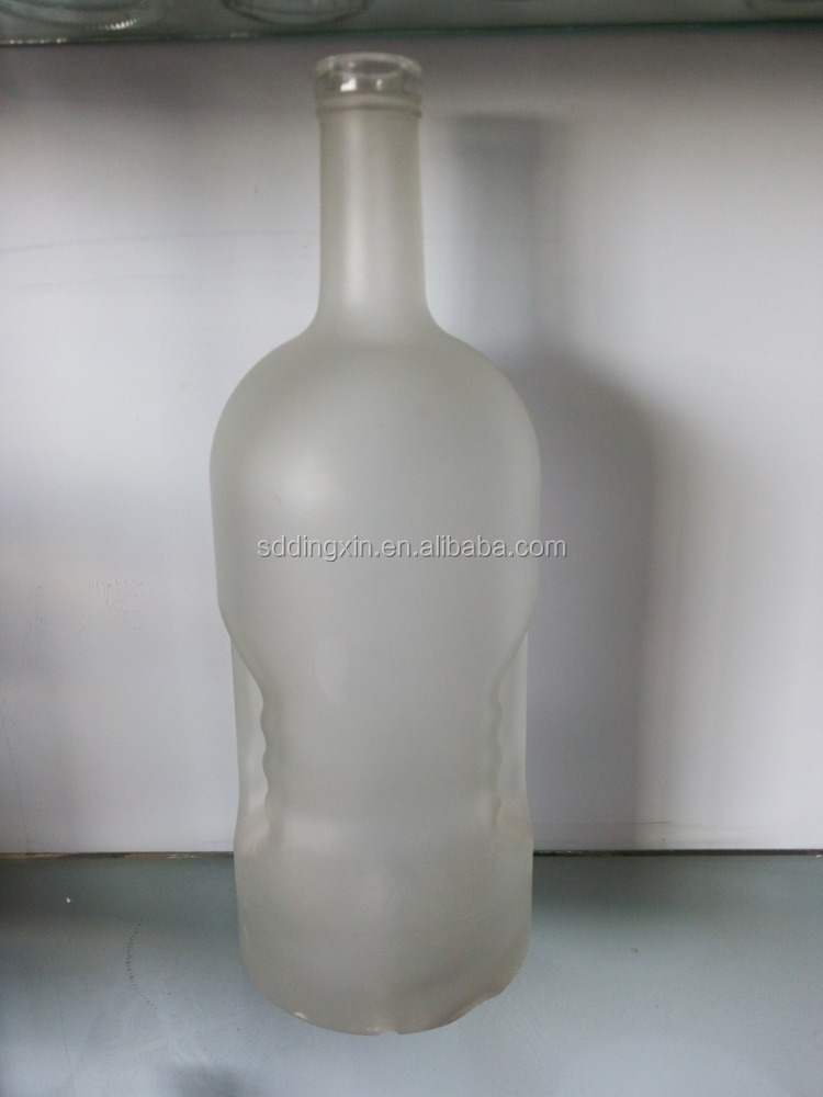 1.75 L white glass bottle wine bottles vodka bottle with frosted