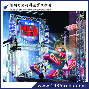Ninja warrior obstacle course for professionals 2017 American aluminum truss