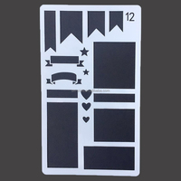 New style Customized DIY Plastic art Stencil 24 Pack 4x7 Inch Drawing Template Stencil drawing custom stencils Journaling