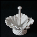 Handmade White Porcelain Ring Holder For Home Decoration