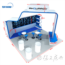 Portable display stand beautiful wood material booth free design professioanl booth manufacture
