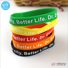 Eco-friendly printing silicone rubber band for promotional