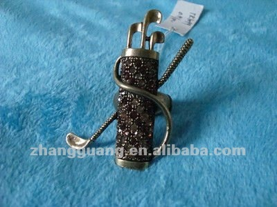wholesale stretch Crystal golf ball sport ring