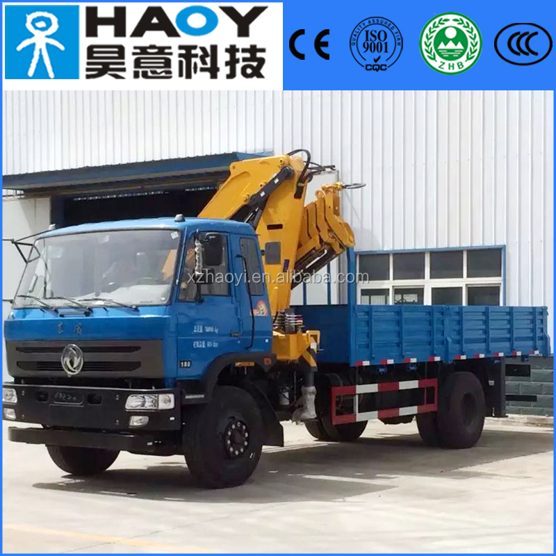 factory hot sale 12t truck crane used for sale with winch cable knuckle boom
