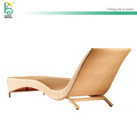 outdoor furniture rattan lounge leisure chaise wicker recliner