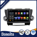 10.2 Inch High quality double din displaying caller name car gps dvd player for Toyota highlander 2009 2012