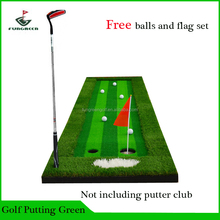 75x300CM Indoor outdoor Mini Protable Golf Hitting/Swing Mat, 3 Colors Grass Golf Putter Mat with Free Gift