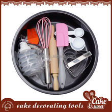 Food quality metal cake pan, baking set cake decorating set