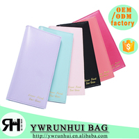 New Hot fahsion Candy Color women cheap long leather wallet lady