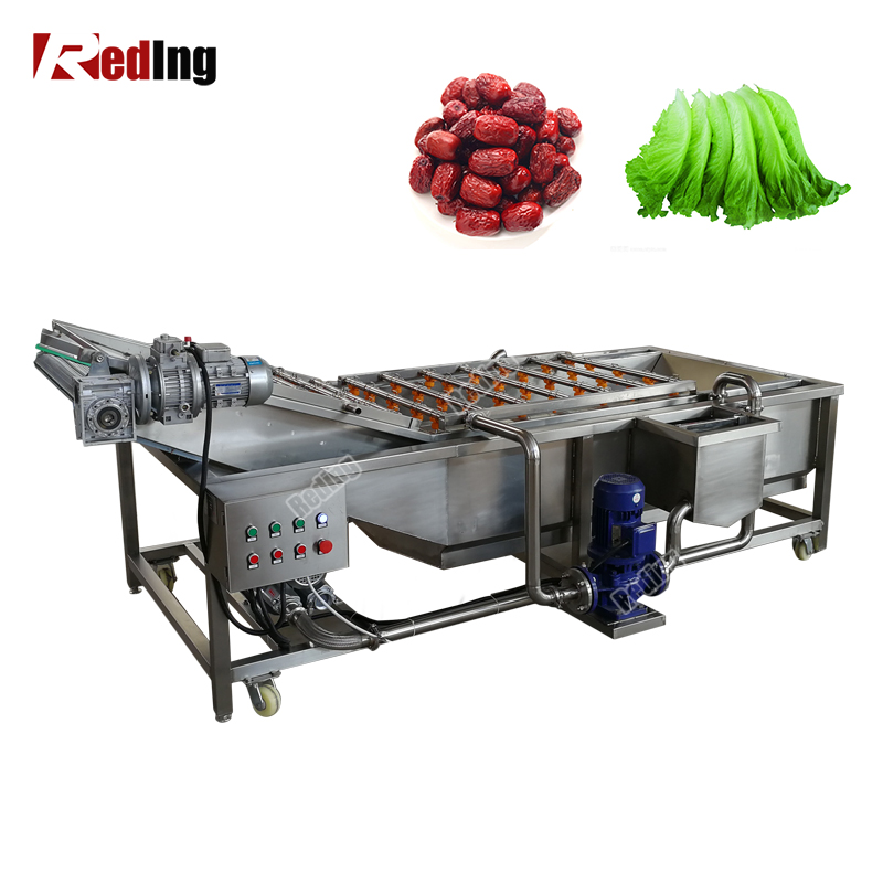 High Efficiency Fruits And Vegetable Washer And Dryer/Air Bubble Dates Washing Cleaning Machine