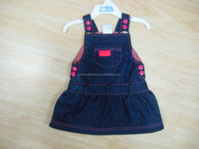 children clothes one piece girls dresses Kid Girls Denim ' overalls dress
