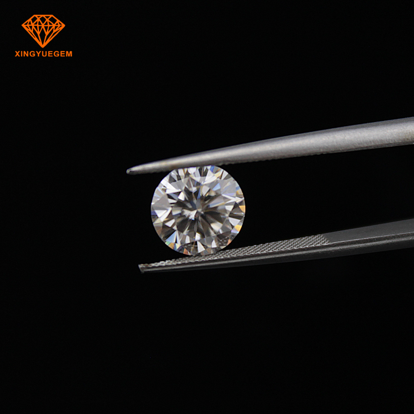 Lab created EF colorless VVS round shape 3mm moissanite loose gems MOQ 1 pieces