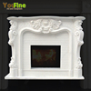 Indoor Freestanding Marble Fireplace Mantel Manufacturer