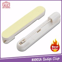 Hot selling adhesive plastic bar metal safety pin