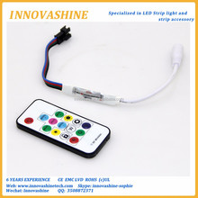 Wireless ic 5v 12v 24v Remote RF led RGB 300 changes 2048 Pixels ws2812 ws2811 6812 magic digital led strip controller