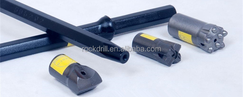 Rock Drilling Tools for small size blasthole drilling