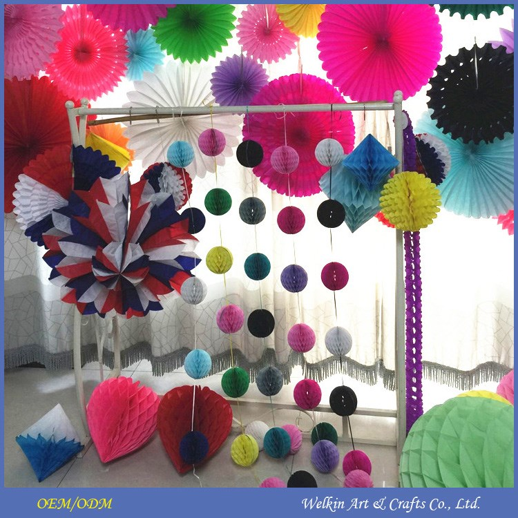 Wedding paper honeycomb ball hanging tissue paper honeycomb decorations christmas paper - Hanging paper balls decorations ...
