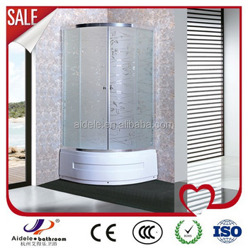 China frosted glass simple home use shower enclosure