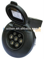 European type electrica car of AC socket with cable