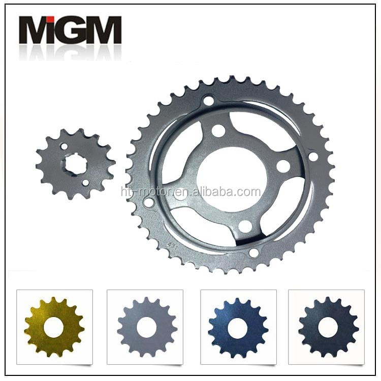huitong oem quality motorcycle rear sprockets and 525 chain sprocket set