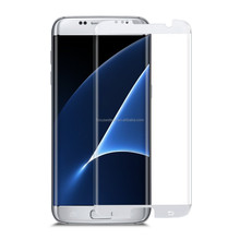 2017 new premium For Samsung tempered glass screen protector/Full Cover 3D curved s7 edge tempered glass