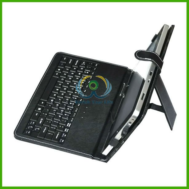 10.2'' Tablet PC USB Keyboard Leather Case