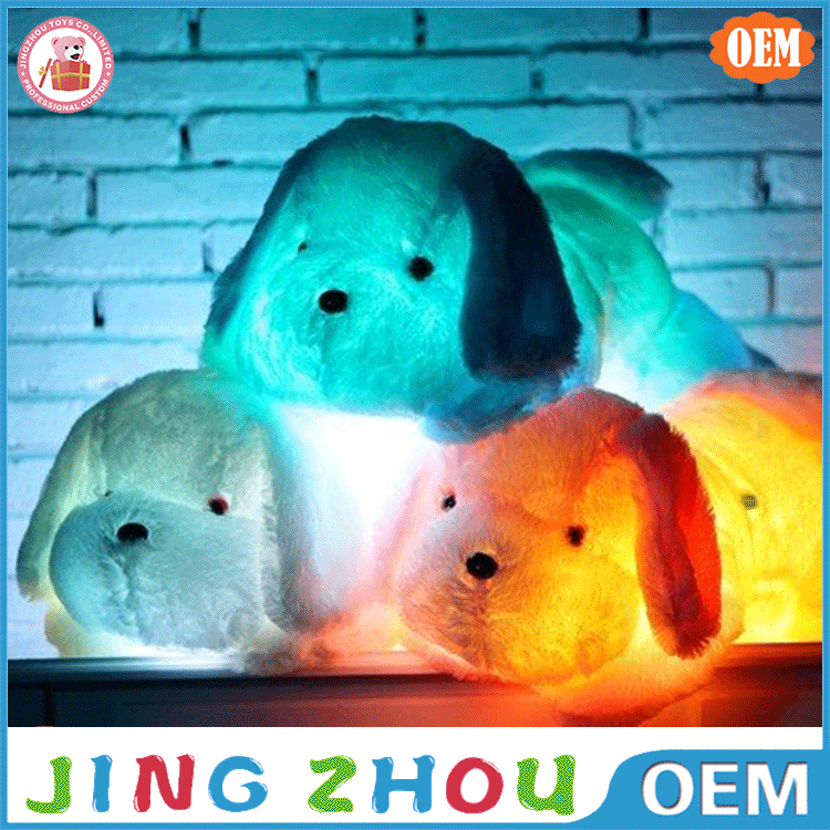 Custom Good Quality Dog Animal Plush Night Light Baby Soft Toy