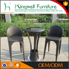 Popular outdoor wicker bar set wholesale rattan furniture